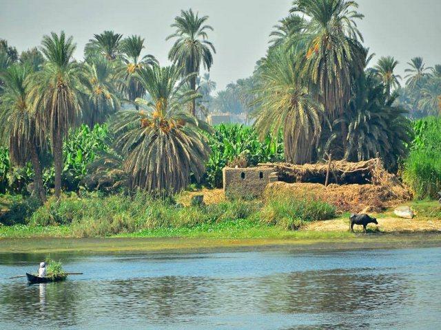 هرم هوارة في الفيوم بمصر