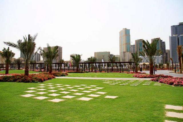 حديقة المجاز واحدة من اهم حدائق الشارقة