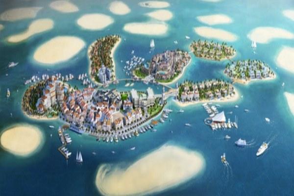 جزر بدولة الامارات السياحية