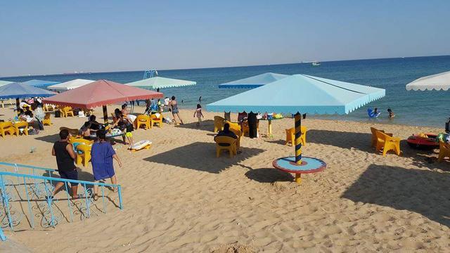 شاطئ اللؤلؤة من اجمل شواطئ العين السخنه