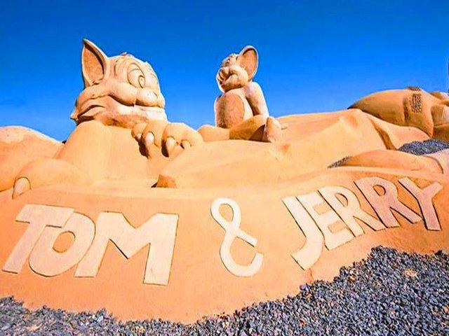 متحف الرمال فى الغردقة بمصر
