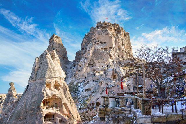 كابادوكيا في الشتاء في تركيا