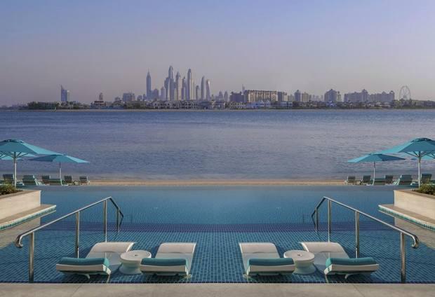 الشاطئ الخاص بـ فندق ذا رتريت نخلة دبي