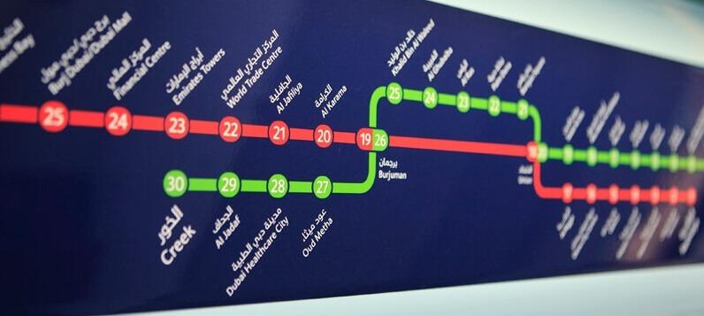 محطات مترو دبي واهم الاماكن السياحية القريبة منها رحلاتك