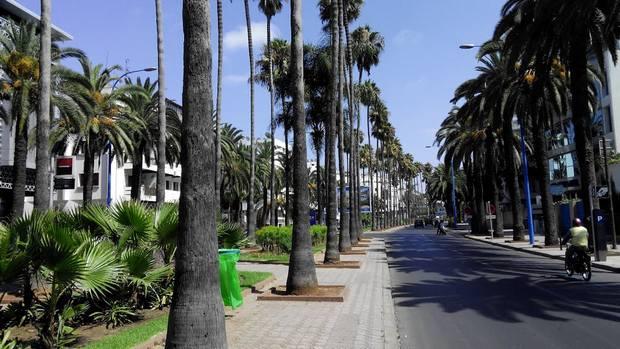 شوارع الدار البيضاء بالمغرب