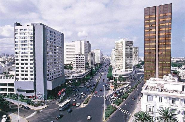 شوارع الدار البيضاء في المغرب