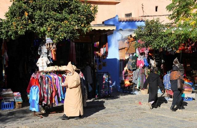 ساحة وطاء الحمام بشفشاون في المغرب