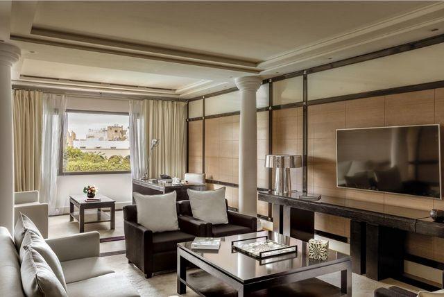 منطقة جلوس رائعة في فنادق الدار البيضاء 5 نجوم بالمغرب