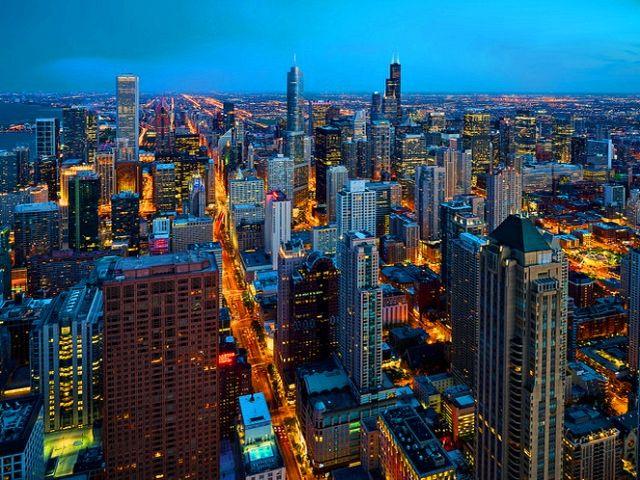 اين تقع شيكاغو