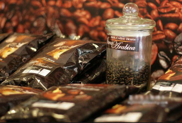 مصنع القهوة في بينانج بماليزيا