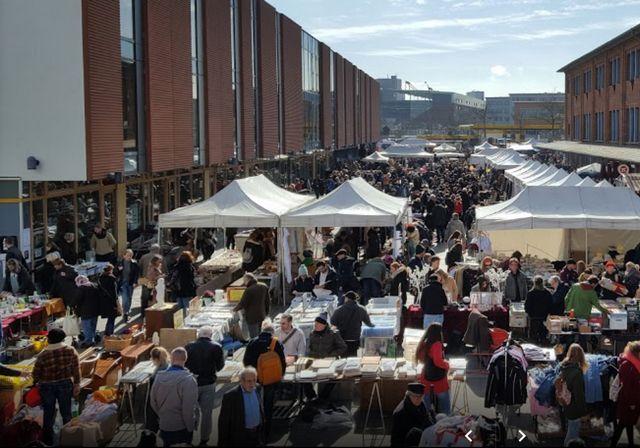 موقع سوق السبت في هامبورغ