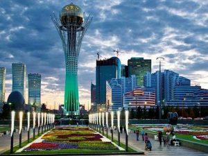 اين تقع كازاخستان