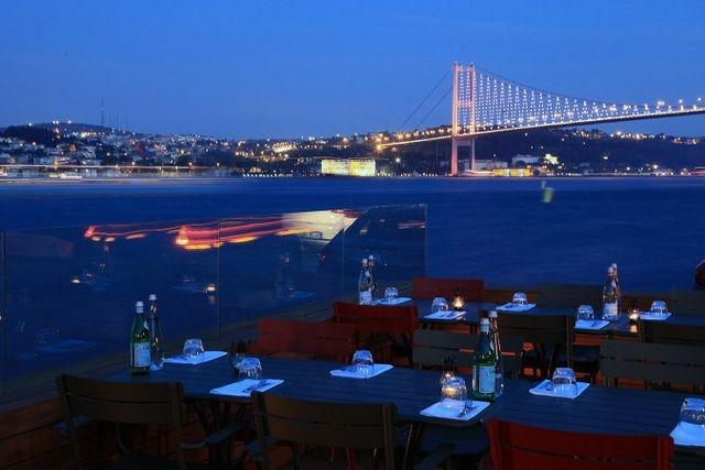 المطاعم المطله على البسفور في اسطنبول