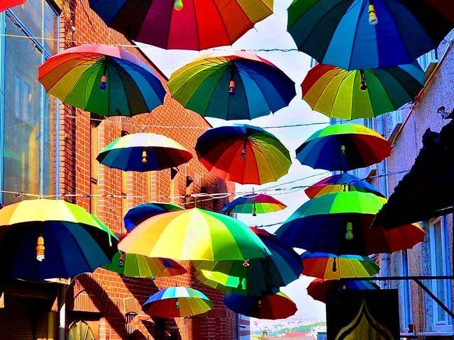 شارع المظلات تركيا في مودا