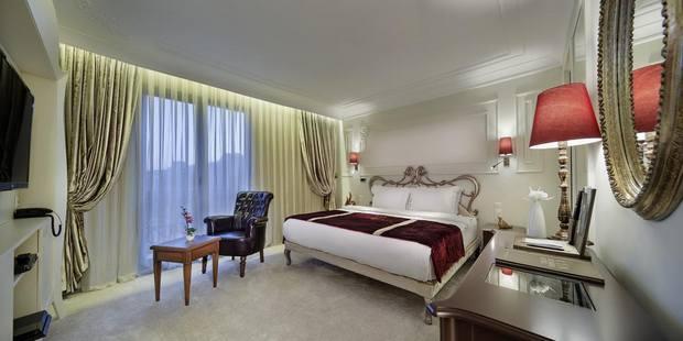 صورة لغرفة في احد الفنادق في تقسيم اسطنبول