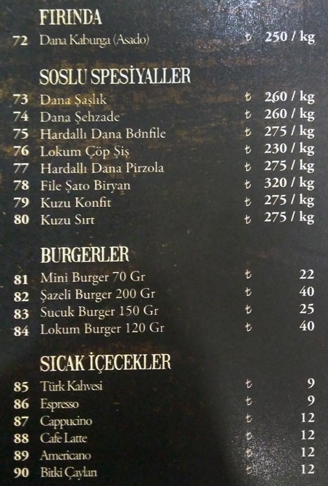 اسعار مطعم شازلي فلوريا اسطنبول