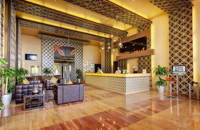 تمنحك ابيدوس للشقق الفندقية دبي لاند أفضل اسعار شقق دبي مُقارنةً مع ما يُقدَّم من خدمات.