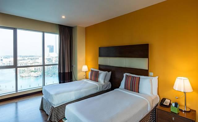 تبحثون عن فنادق مطله على نافورة دبي فندق رامادا داون تاون دبي  هو الخيار المُناسب