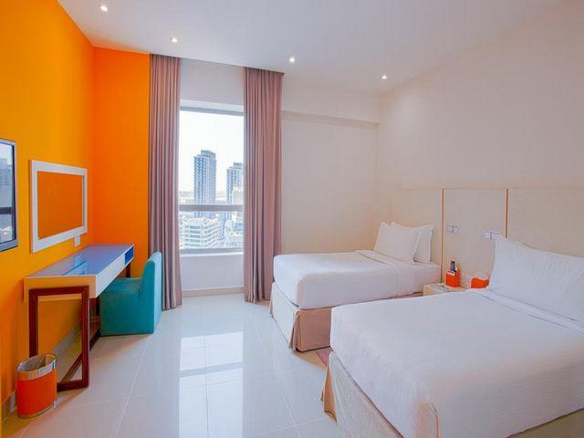 يحتوي فندق واجنحة هوثورن دبي على غرف معيشية مميزة بإطلالة رائعة.
