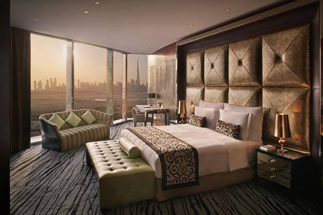 فندق الميدان دبي أحد افضل فنادق دبي للعوائل كونه يُوّفر غُرف بمساحات مُختلفة.