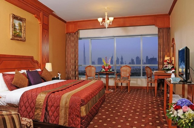 تتميز الغرف داخل فندق كونكورد الامارات بمساحتها الواسعة وأناقتها