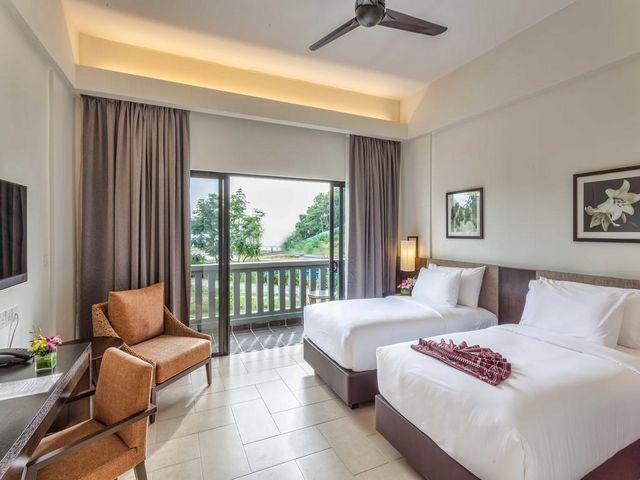 مُعظم الغرف في فنادق في لنكاوي على البحر تتميز بمساحات إقامة واسعة
