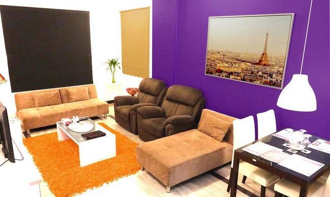 شقق فندقية فاخرة في الكويت بها منطقة جلوس أنيقة