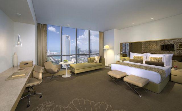 فندق جميرا ابراج الاتحاد ابوظبي افضل فندق في ابوظبي يتمتع بإطلالة ساحرة على الخليج وشاطئ