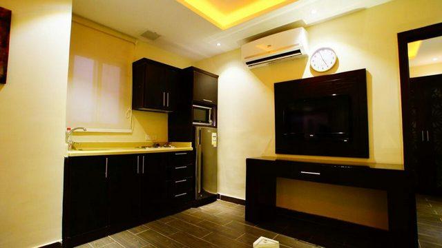 المهيدب للوحدات السكنية الرياض يقدم وحدات مزودة بمطبخ صغير ومستلزماته لإقامة تتمتع بها بكامل الخصوصية