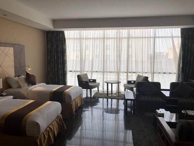 يوفر الفندق إطلالة مميزة ومرافق صحية ويعد من أفضل فنادق حي قرطبة الرياض