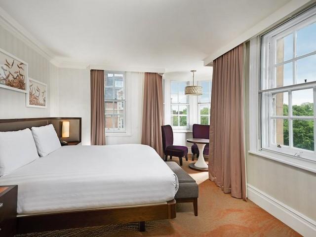 جمال التصاميم والديكورات والتناسق في فندق هيلتون لندن المميز في هايد بارك