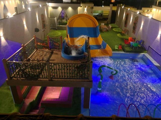 منطقة ألعاب أطفال تتوفر في أروع شاليهات عائليه بالرياض