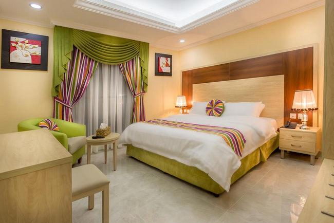 غُرف مُزينة وجميلة في شقق فندقيه شمال جده