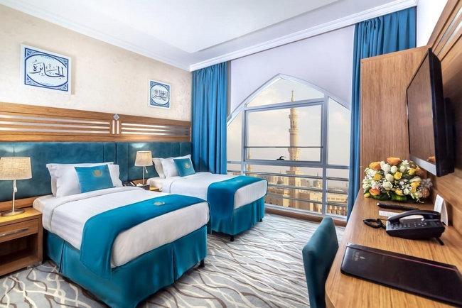 غُرف جميلة بإطلالة رائعة في فنادق شارع السلام بالمدينة المنورة