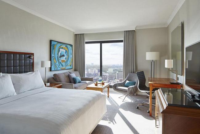 غُرف أنيقة وعصرية بإطلالة في افضل فنادق لندن شارع العرب
