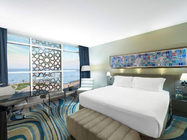إطلالة فندق راديسون بلو جدة كورنيش من أفخم فنادق مطله على البحر جده