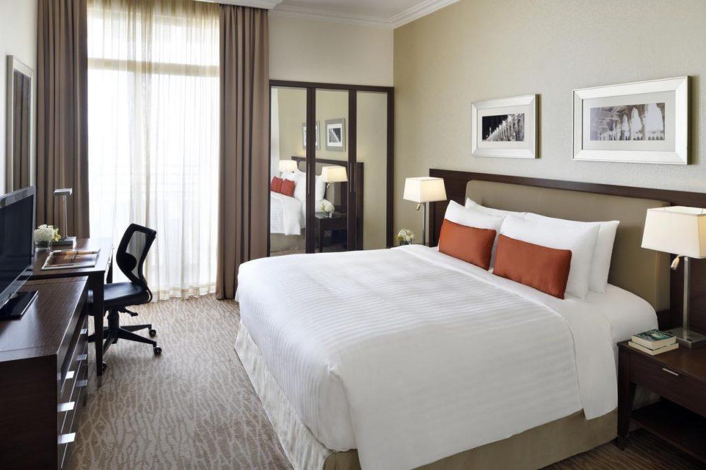 شقق ماريوت الفندقية من شقق فندقية فخمة في الرياض فهي تقدم مرافق مُميّزة.