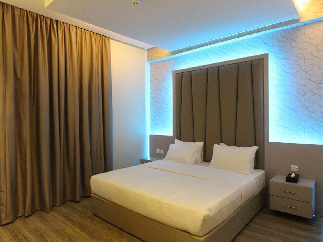 غرفة قياسية في حياة روز للشقق الفندقية الرياض أحد أبرز وأجمل شقق قريبه من النخيل مول بالرياض