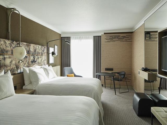 لن يشكل عدد الأفراد عائقاً أمام إقامتك في ماريوت لندن ريجنت بارك، حيث تتوفر غرف تسع أعداد كبيرة من الزوار.