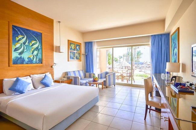 حجز فندق في شرم الشيخ خمس نجوم يمتلك غُرف جميلة بديكورات رائعة