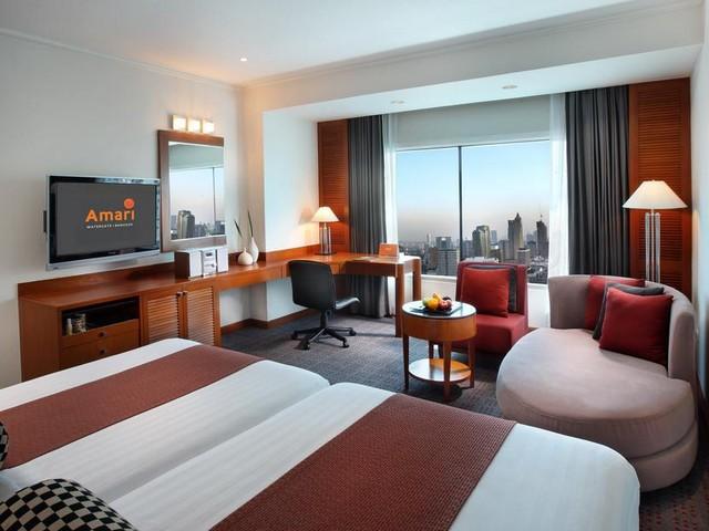 الغرف الكبيرة مع الإطلالات في فندق اماري وترجيت بانكوك