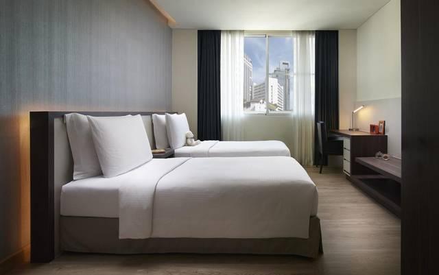 يُعد شاما سوخومفيت بانكوك من افضل شقق فندقيه في بانكوك قريبه من شارع العرب