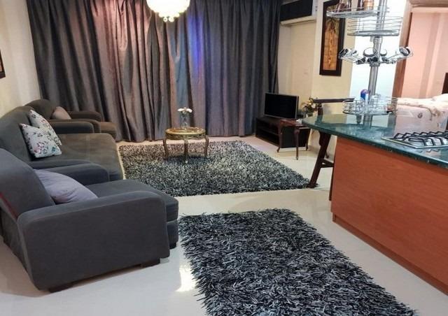 صالة شقة وفاء في مدينتي من أفضل شقق فندقية في القاهرة