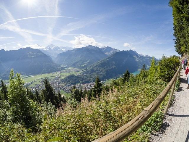 الطريق إلى قمة هاردر كولم انترلاكن